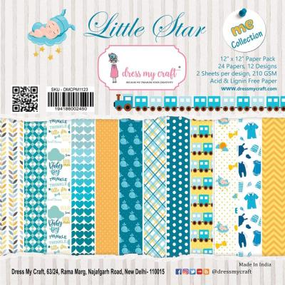 Dress My Crafts Paper Pad Designpapier - Little Star