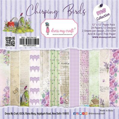 Dress My Crafts Paper Pad Designpapier - Chirping Birds