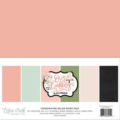 Echo Park Our Wedding Cardstock - Solids Kit