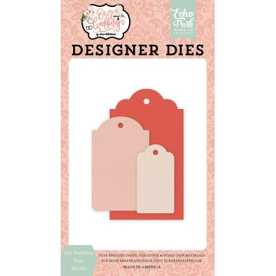 Echo Park Our Wedding Dies - Our Wedding Tags