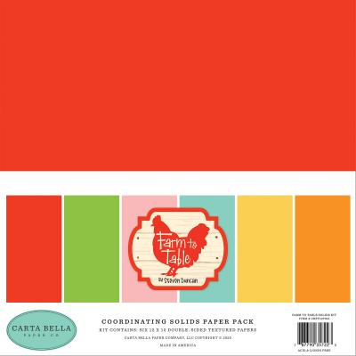 Carta Bella Farm To Table Cardstock - Solids Kit
