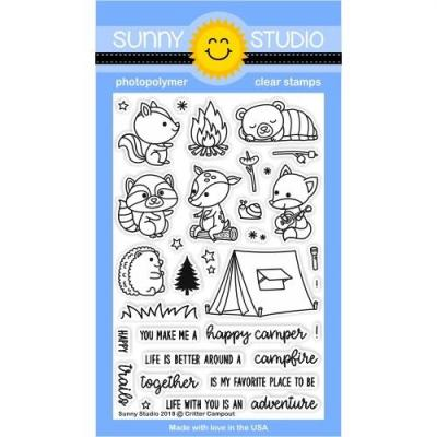 Sunny Studio Clear Stamps - Critter Campout