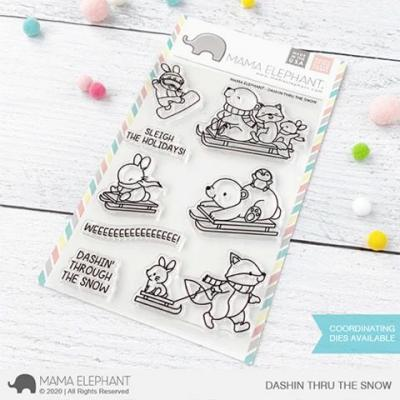 Mama Elephant Clear Stamps - Dashin Thru The Snow