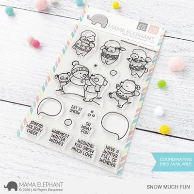 Mama Elephant Clear Stamps - Snow Much Fun