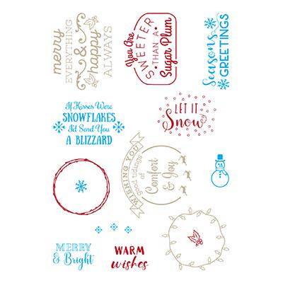 LDRS Creative Clear Stamps - Snowflakes & Blizzards