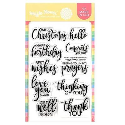 Waffle Flower Clear Stamps - Essential Sentiments
