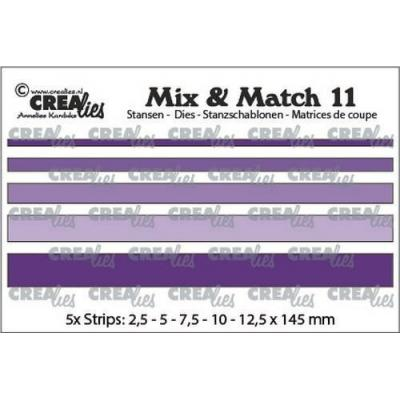 Crealies Mix & Match dies - Streifen glatt