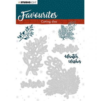StudioLight Cutting & Embossing Die Winter's Favourites - Nr. 336