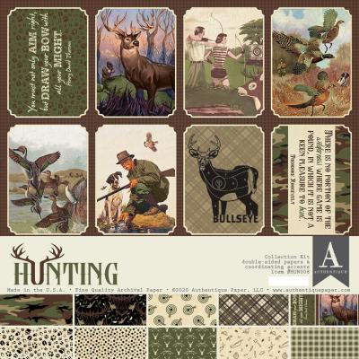 Authentique Hunting Designpapier - Paper Pad