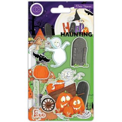 Craft Consortium Happy Haunting Clear Stamps - Pumpkins