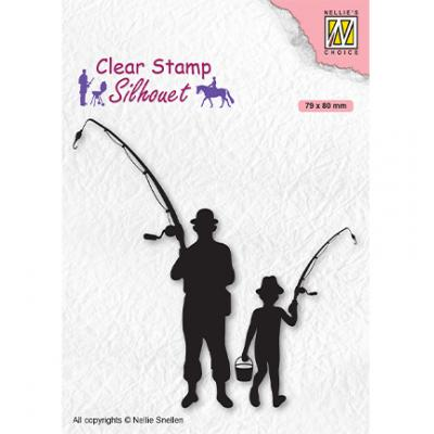 Nellie's Choice Clear Stamp - Silhouettes Men-Things Fishermen