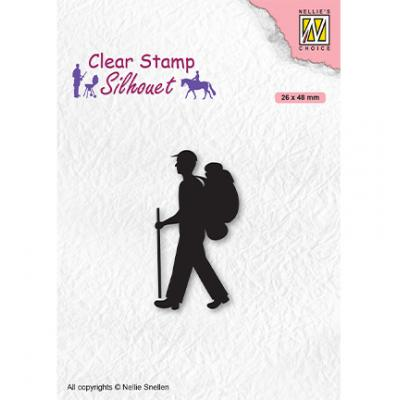 Nellie's Choice Clear Stamp - Silhouette Men-Things Backpacker