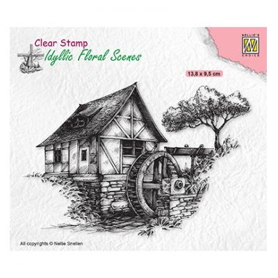 Nellie's Choice Clear Stamp - Floral Scenes Water-Mill