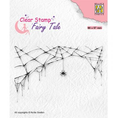 Nellie's Choice Clear Stamp - Fairy Tale Spider And Web