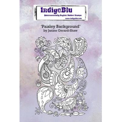 IndigoBlu Rubber Stamp - Paisley Background