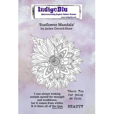IndigoBlu Rubber Stamps - Sunflower Mandala