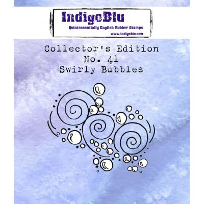 IndigoBlu Rubber Stamp - Swirly Bubbles