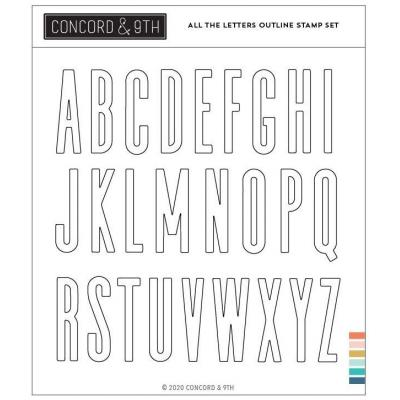 Concord & 9th Clear Stamps - All the Letters Outline