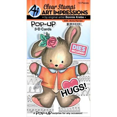 Art Impressions Pop-Ups Clear Stamp & Die Set - Bunny
