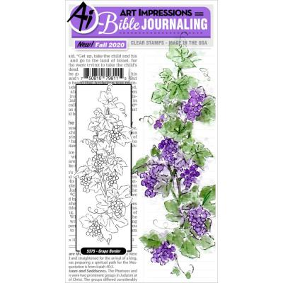 Art Impressions Bible Journaling Clear Stamp - Grape Border