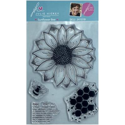 Sweet Huni Designs Julie Hickey Designs Clear Stamps - Sunflower Bee
