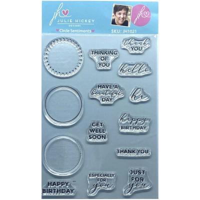 Sweet Huni Designs Julie Hickey Designs Clear Stamps - Circle Sentiments