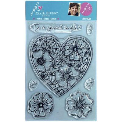Sweet Huni Designs Julie Hickey Designs Clear Stamps - Fresh Floral Heart