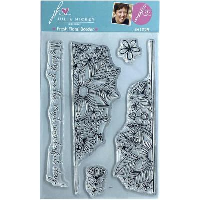 Sweet Huni Designs Julie Hickey Designs Clear Stamps - Fresh Floral Border