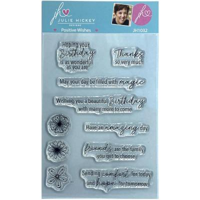 Sweet Huni Designs Julie Hickey Designs Clear Stamps - Positive Wishes
