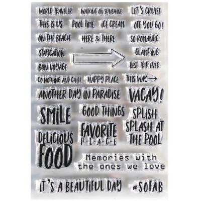 Elizabeth Craft Clear Stamps - Vacay Phrases