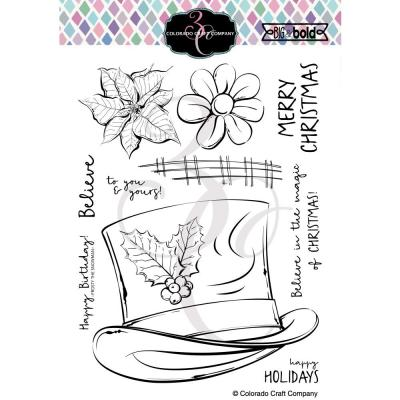 Colorado Craft Company Clear Stamps - Frosty's Hat