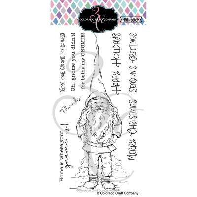 Colorado Craft Company Clear Stamps - Slimline Gnome