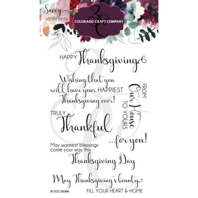 Colorado Craft Company Clear Stamps - Truly Thankful
