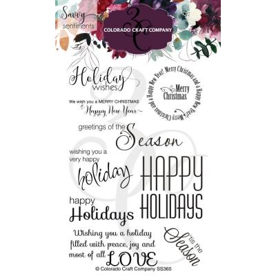 Colorado Craft Company Clear Stamps - Holiday Wishes