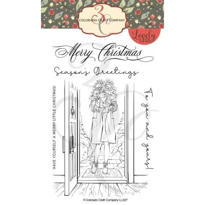 Colorado Craft Company Clear Stamps - Winter Season Poinsettia