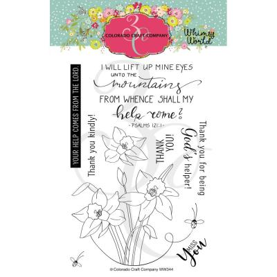 Colorado Craft Company Clear Stamps - Lift My Eyes Daffodils