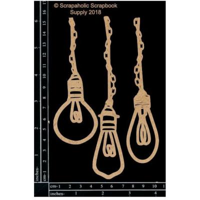 Scrapaholics Laser Cut Chipboard - Industrial Light Bulbs