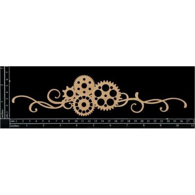 Scrapaholics Laser Cut Chipboard - Cog Flourish 2