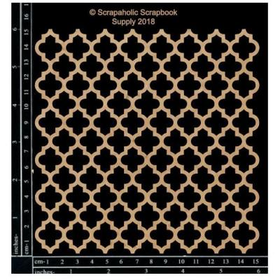 Scrapaholics Laser Cut Chipboard - Quatrefoil Panel