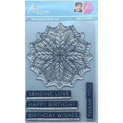 Sweet Huni Designs Julie Hickey Designs Clear Stamps - Mandala