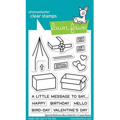 Lawn Fawn Clear Stamps - Special Delivery Box Add-On