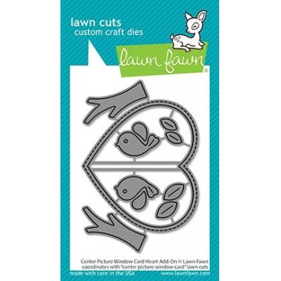 Lawn Fawn Lawn Cuts - Center Picture Window Card Heart Add-On