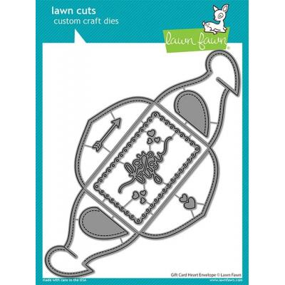 Lawn Fawn Lawn Cuts - Gift Card Heart Envelope