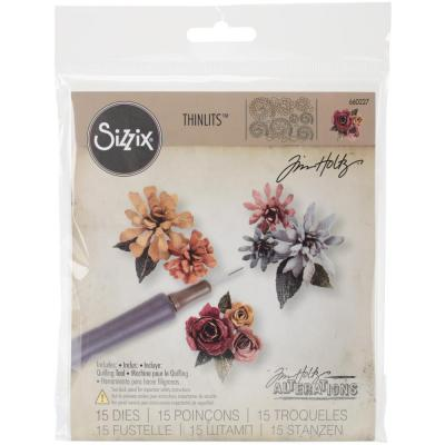 Sizzix Thinlits Die Set - Tiny Tattered Florals