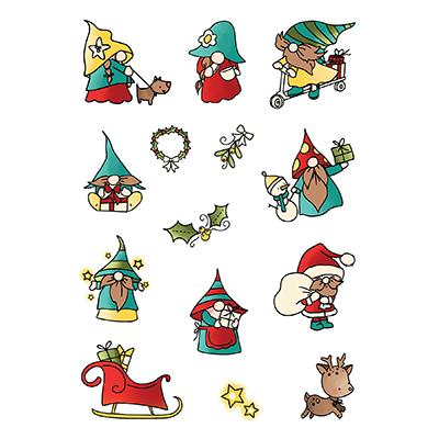 LDRS Creative Clear Stamps - Holiday Gnomes