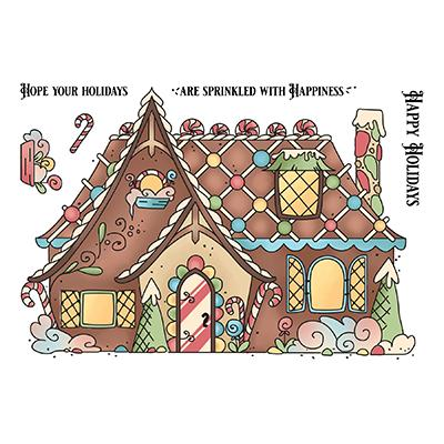 LDRS Creative Clear Stamps - Gingerbread House