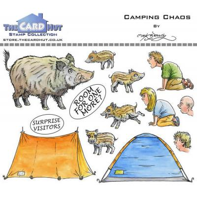 The Card Hut Great Outdoors Clear Stamps - Camping Chaos