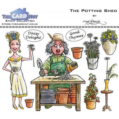 The Card Hut Clear Stamps - Garden Sheds - The Potting Shed