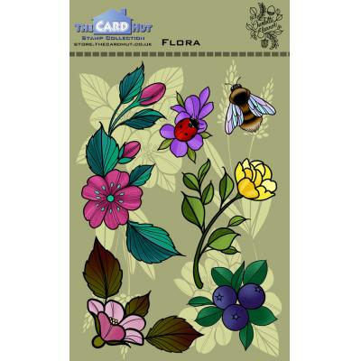 The Card Hut Clear Stamps - Flora