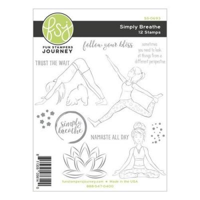 Fun Stampers Journey Clear Stamps - Simply Breathe
